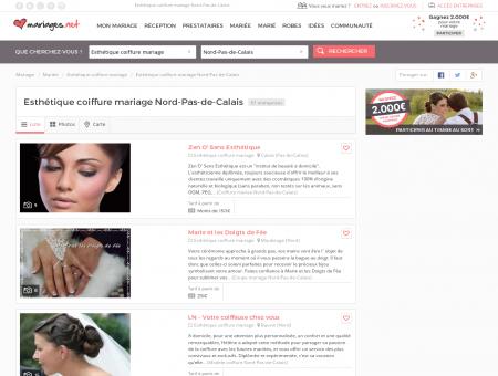 Esthétique coiffure mariage Nord-Pas-de-Calais