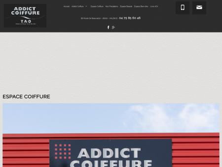 Coiffeur visagiste Valence - ADDICT COIFFURE...