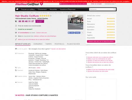 Hair Studio Coiffure Nantes - Avis, Tarifs,...