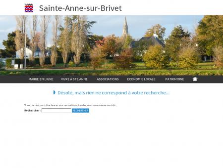 Site Officiel SAINTE-ANNE-SUR-BRIVET (44160)
