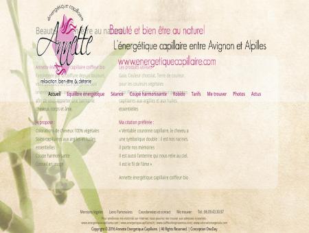 Annette énergétique capillaire coiffeur bio