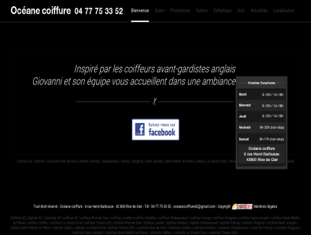 Océane coiffure 42 - Coiffeur - Styliste - Coloriste
