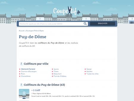 COIFFEURS 63 - SALONS DE COIFFURE DU...