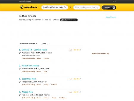 Coiffure enfants en Belgique | pagesdor.be