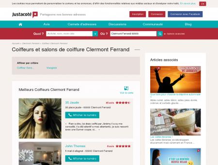 Coiffeurs et salons de coiffure Clermont Ferrand