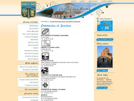 Commerces et Services - Cernay les Reims