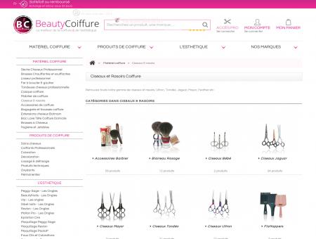 Ciseaux et Rasoirs Coiffure - Vente en ligne de...