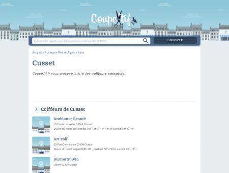 COIFFEURS CUSSET - SALONS DE COIFFURE...