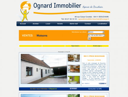 Immobilier Bouchain, agence immobiliere...