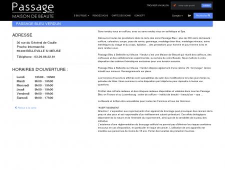 Adresse et horaires Passage Bleu VERDUN -...