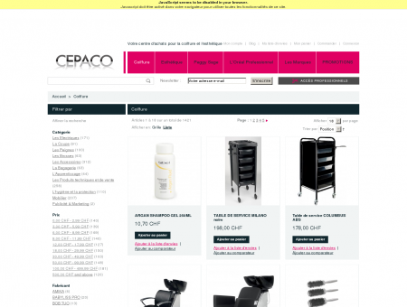 Coiffure | CEPACO, le centre d'achat de la...