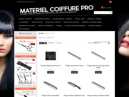 peigne-carbone - Matériel de Coiffure pour...