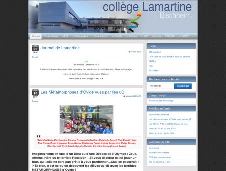Collège Alphonse de Lamartine » Bienvenue sur...