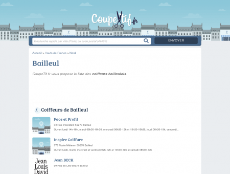 COIFFEURS BAILLEUL - SALONS DE COIFFURE...