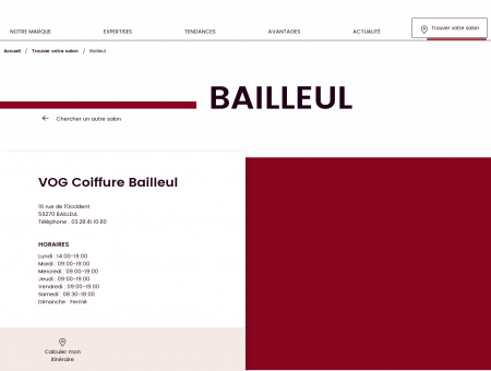 Salon de coiffure à BAILLEUL  VOG...