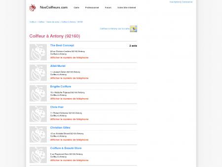 Coiffeur Antony - 92160 - Avis coiffeurs à...