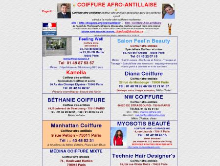 Coiffure Coiffures Afro-Antillaise afro Antillais...