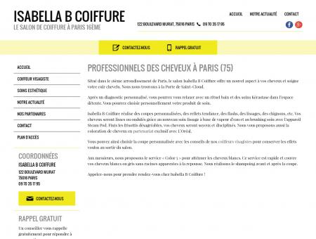 Accueil | Isabelle B Coiffure | Paris (75016)