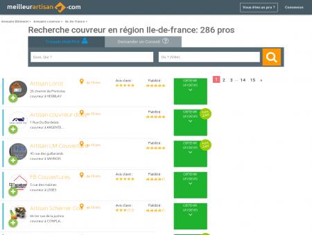 Couvreur ILE-DE-FRANCE - Trouver l'artisan du...