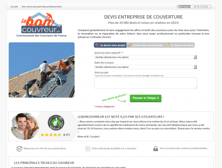 Couverture Eure Loir - Besoin d'un Couvreur...