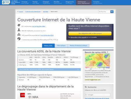 Couverture Internet de la Haute Vienne - La...