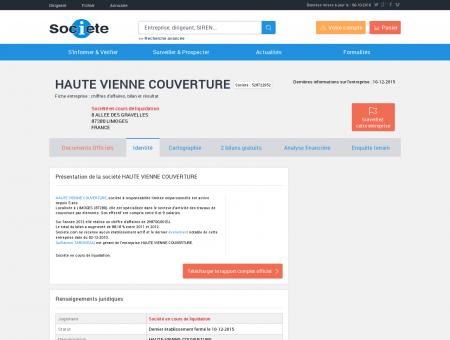 HAUTE VIENNE COUVERTURE (LIMOGES)...