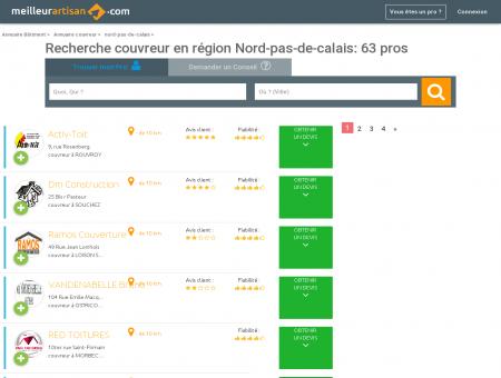 Couvreur NORD-PAS-DE-CALAIS - Trouver...