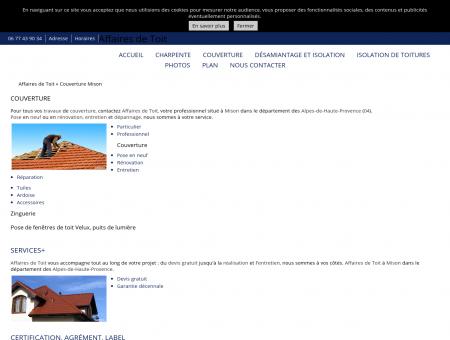 Couverture - Affaires de Toit à Mison Alpes-de...