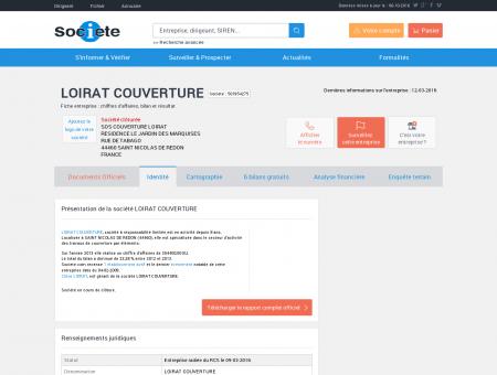 LOIRAT COUVERTURE (SAINT NICOLAS DE...