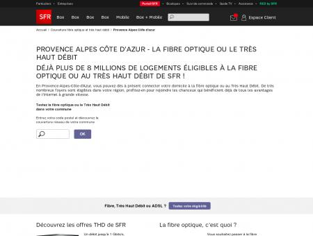 Fibre optique Provence Alpes Côte d'azur,...