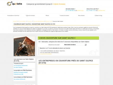 Couverture Saint Sulpice, 5 devis Couvreur...