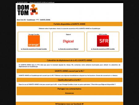 4G SAINTE-ANNE - 4G DOM-TOM : Carte de...