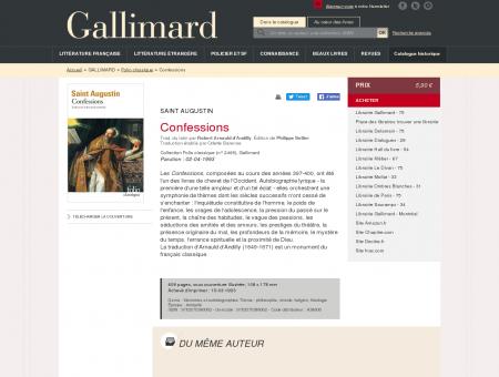 Confessions - Folio classique - Folio -...