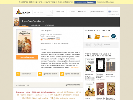 Les Confessions - Saint Augustin - Babelio