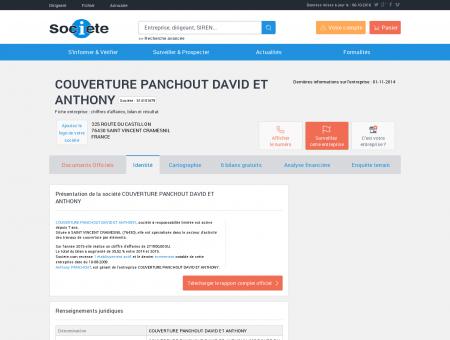 COUVERTURE PANCHOUT DAVID ET...