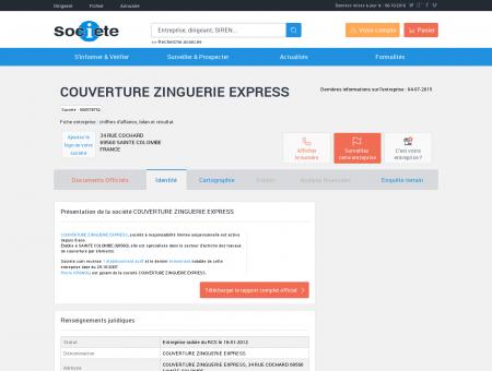 COUVERTURE ZINGUERIE EXPRESS (SAINTE...