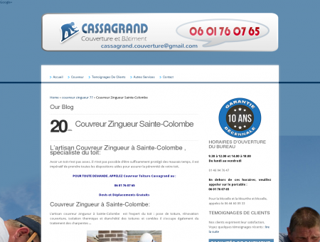 Couvreur Zingueur Sainte-Colombe   06 01 76...