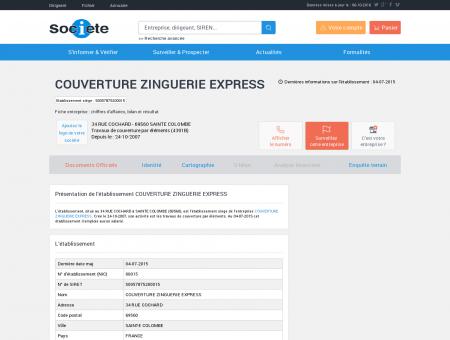 Etablissement COUVERTURE ZINGUERIE...