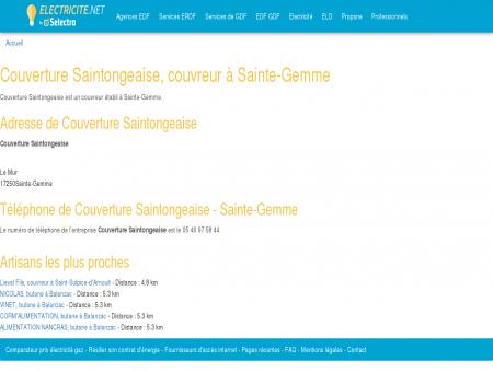 Couverture Saintongeaise, couvreur à Sainte...