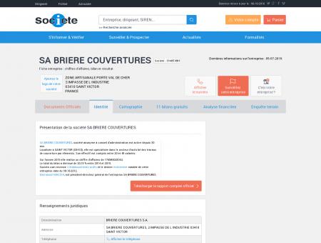 SA BRIERE COUVERTURES (SAINT VICTOR)...