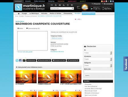 MADINIBOIS CHARPENTE COUVERTURE -...