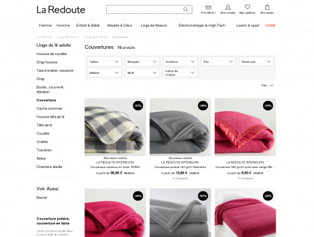 Soldes couvertures | LaRedoute.fr