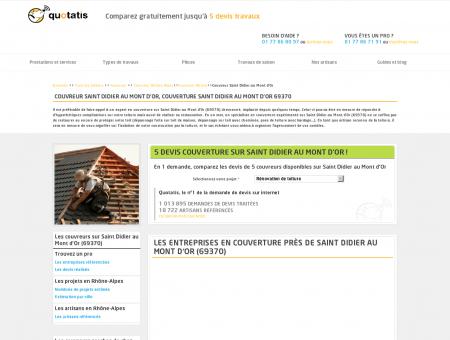 Couverture Saint Didier au Mont d'Or, 5 devis...