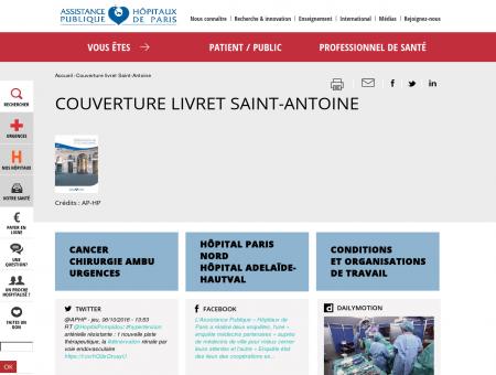 Couverture livret Saint-Antoine | APHP