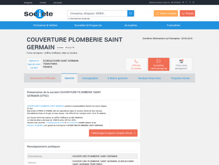 COUVERTURE PLOMBERIE SAINT GERMAIN...