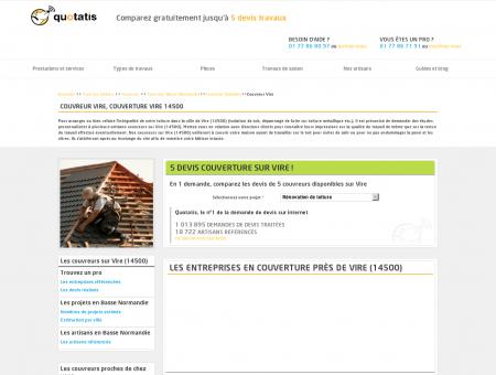 Couvreur Vire, Couverture Vire 14500