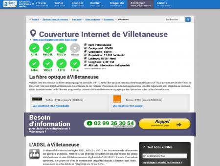 Couverture Internet de Villetaneuse -...