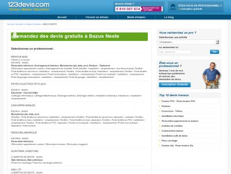 Devis gratuit à BAZUS NESTE Hautes Pyrénées...