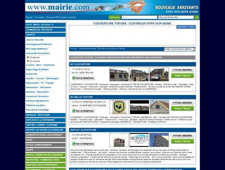 Couverture toiture / Couvreur Vitry-sur-Seine :...