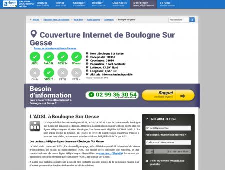 Couverture Internet de Boulogne Sur Gesse